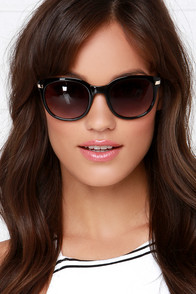 Hey, Good Lookin' Black Sunglasses at Lulus.com!