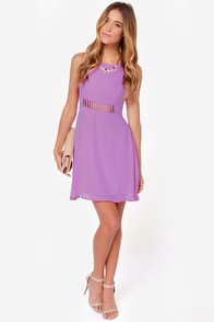 LULUS Exclusive Kiss-Krossed Purple Dress at Lulus.com!