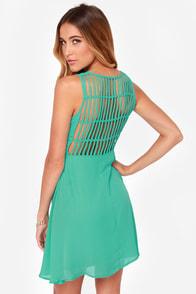 LULUS Exclusive Kiss-Krossed Sea Green Dress at Lulus.com!