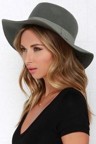 Tip Your Brim Grey Fedora Hat at Lulus.com!