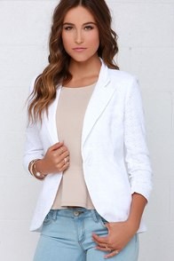 Trailblazer Ivory Embroidered Blazer at Lulus.com!