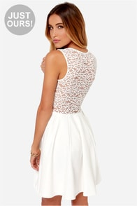 LULUS Exclusive Lace Your Steps White Dress