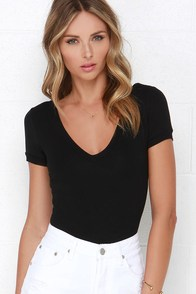 Let's Get Rowdy Black Bodysuit at Lulus.com!
