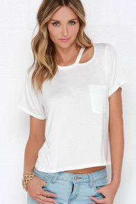 Slice Going Ivory Tee at Lulus.com!