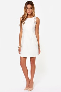 One Sweet Day Ivory Lace Dress at Lulus.com!