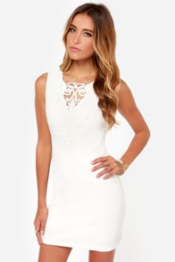 Airs and Graces Ivory Lace Dress at Lulus.com!