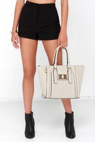 Window Shopper Beige Tote at Lulus.com!