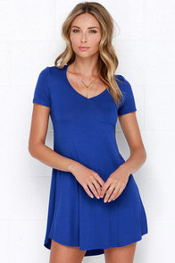 Better Together Royal Blue Shirt Dress at Lulus.com!