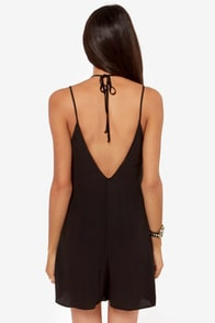 In Short Order Black Romper at Lulus.com!