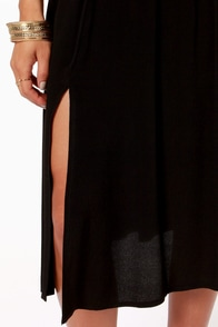 Chic Your Mind Black Midi Skirt at Lulus.com!