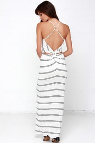 You're a Vision Ivory Striped Maxi Dress at Lulus.com!