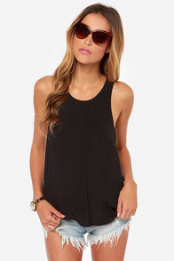 Love is Alive Black Top at Lulus.com!
