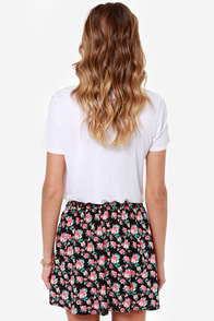 Blooming Era Black Floral Print Skirt at Lulus.com!