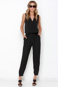 Lovely As Ever Black Jumpsuit at Lulus.com!