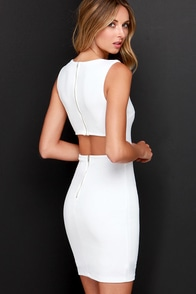 Aim to Chic Ivory Bodycon Dress at Lulus.com!