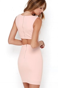 Aim to Chic Blush Pink Bodycon Dress at Lulus.com!