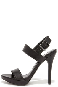 Known Fact Black High Heel Sandals at Lulus.com!
