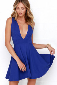 I Do Love You Royal Blue Dress at Lulus.com!