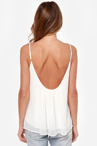 LULUS Exclusive Bel Air Baby Ivory Tank Top at Lulus.com!