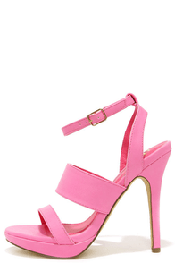 Patio Garden Hot Pink High Heel Sandals at Lulus.com!