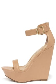 New Heights Natural Platform Wedges at Lulus.com!