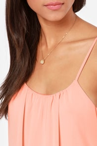 LULUS Exclusive Bel Air Baby Peach Tank Top at Lulus.com!