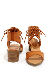 Wild Diva Lounge Alva 01 Whisky Cutout Sandals at Lulus.com!