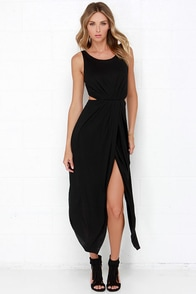 No Mountain High Enough Black Maxi Dress at Lulus.com!