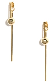 Glowing Admiration Gold Peekaboo Earrings at Lulus.com!