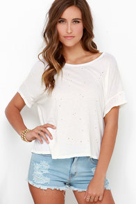 Obey Castro Ivory Oversized Tee at Lulus.com!