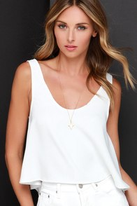 Love Will Flourish Ivory Crop Top at Lulus.com!