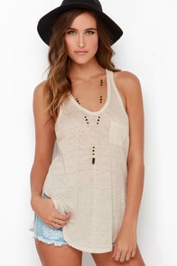 One of These Days Beige Tank Top at Lulus.com!