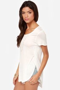All-Love the Above Ivory Tee at Lulus.com!