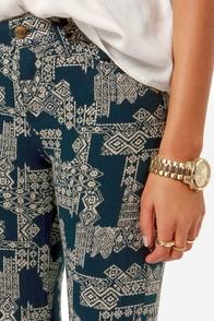 Obey Lean & Mean Dark Blue Print Skinny Pants at Lulus.com!