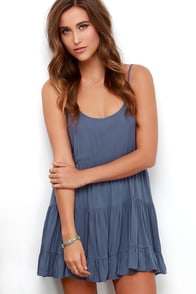 Lost With You Denim Blue Dress at Lulus.com!