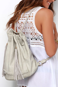 Midday Getaway Beige Backpack at Lulus.com!