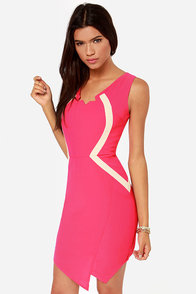 Badda Bing Hot Pink Dress at Lulus.com!