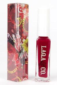 LAQA & Co. Greedy Guts Red Nail Polish at Lulus.com!