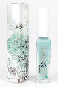LAQA & Co. Squid Ink Mint Blue Nail Polish at Lulus.com!