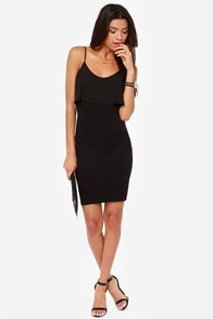 LULUS Exclusive Tier and Now Black Midi Dress at Lulus.com!