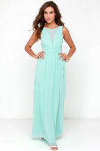 Bright Like a Diamond Mint Maxi Dress at Lulus.com!