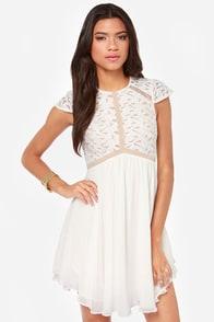 Lumier Heart of Glass Ivory Dress at Lulus.com!