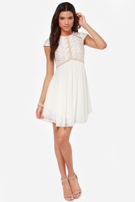 Lumier Heart of Glass Ivory Dress at Lulus.com!