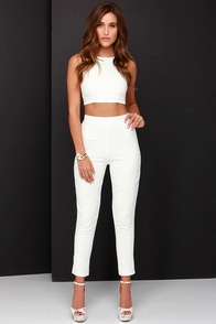 Well-Suited Ivory Two-Piece Set at Lulus.com!