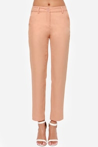 Love on the Rocks Peach Pants at Lulus.com!
