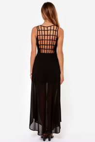 Sizzle and Pop Backless Black Maxi Dress at Lulus.com!