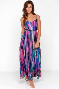 BB Dakota Barby Fuchsia Print Maxi Dress at Lulus.com!