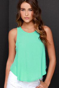 Love is Alive Mint Top at Lulus.com!