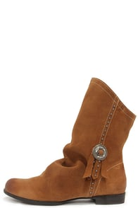 Coconuts Chippewa Tan Suede Leather Mid-Calf Boots at Lulus.com!