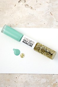 image LAQA & Co. Lacey Mint Gold Fleck Manicure Duo